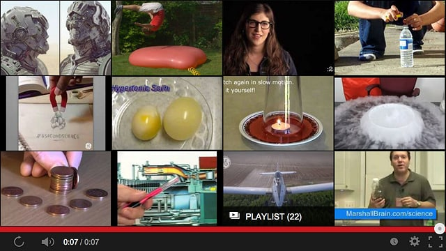 Youtube Screenshot mit Beispiel-Bildern.
