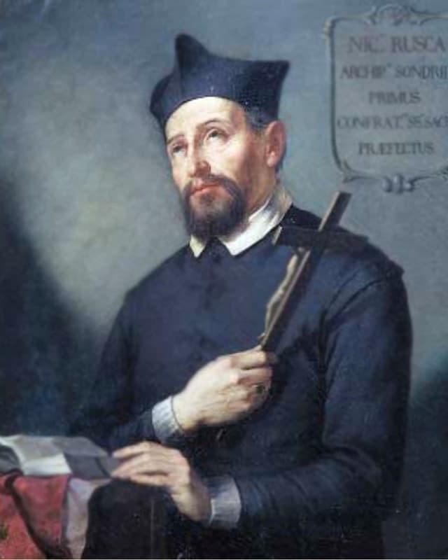 Gemälde: Mann mit Kreuz
