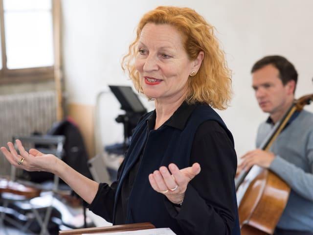 Brigitta Luisa Merki während einer Probe.