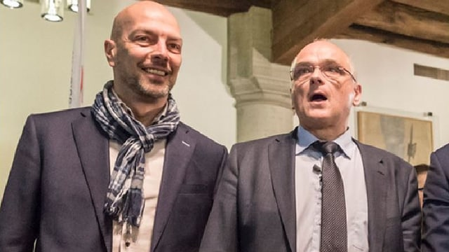 Roberto Bernasconi und Pierre Alain Schnegg.