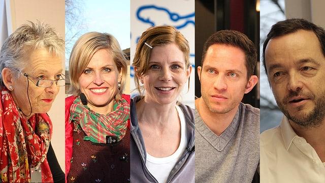 Theres Arnet-Vanoni, Sabine Dahinden, Kerstin Birkeland Ackermann, Adrian Küpfer und Peter Röthlisberger.