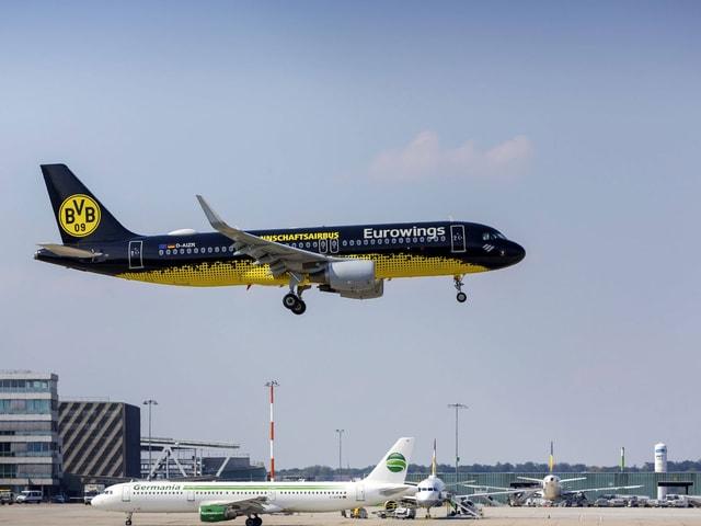 Das offizielle Dortmund-Mannschaftsflugzeug.