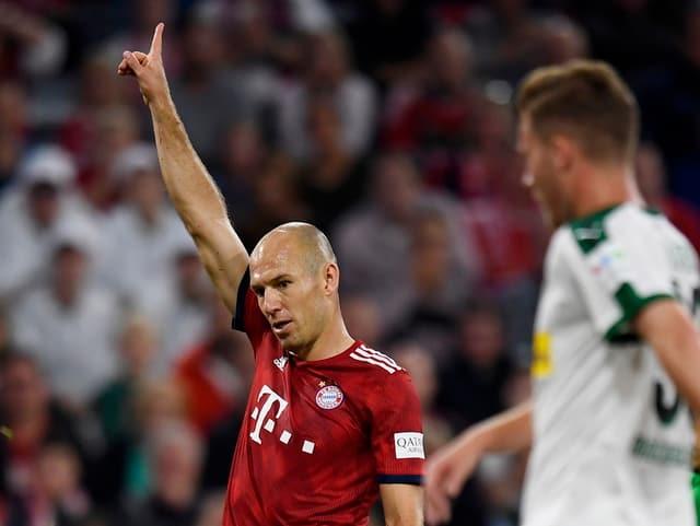 Robben im Spiel gegen Gladbach.