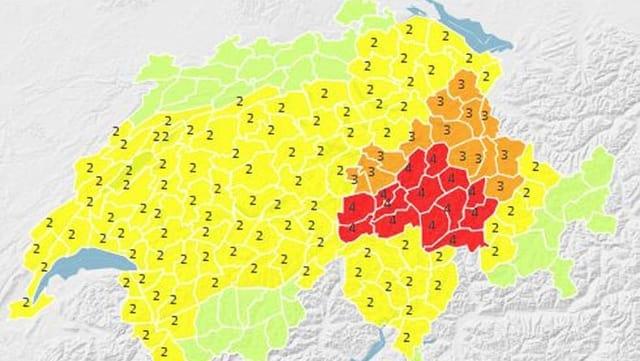 carta geografica da la Svizra