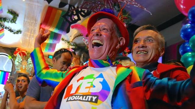 Schwule in Austarlien Jubeln über einen positiven Entscheid zur Homoehe.