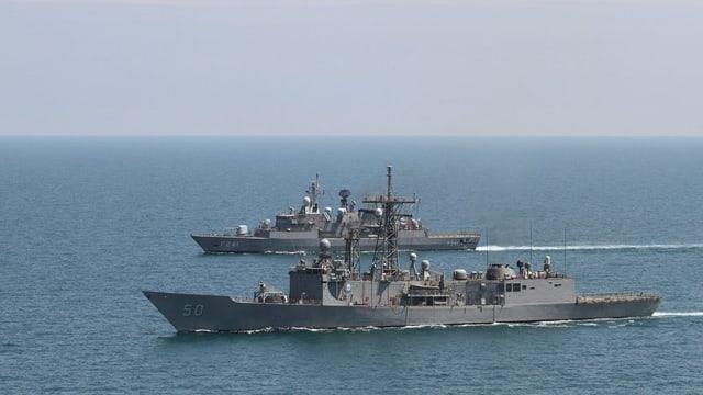 Eine Kriegsflotte