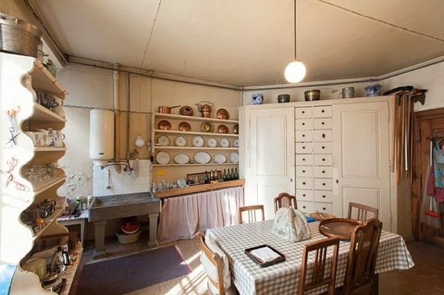 Küche in der Zellweger-Wohnung im zweiten Obergeschoss.