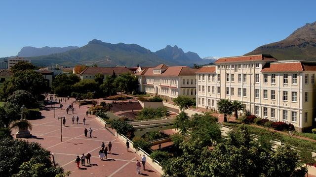 Aufnahme vom Campus der Stellenbosch Universität.