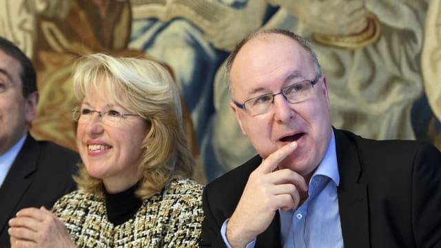 Jacqueline de Quattro (FDP) und Pierre-Yves Maillard (SP)