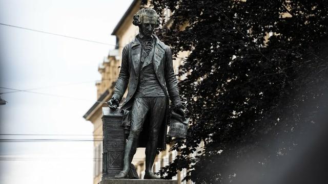 Statue von David de Pury in Neuenburg