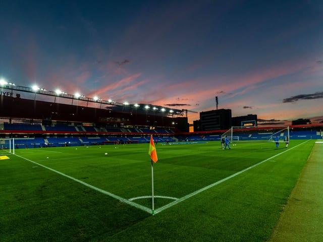 Ein Blick ins Johan-Cruyff-Stadion.