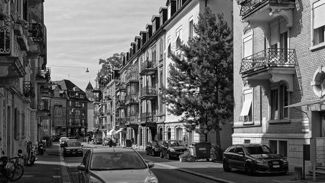 ZH, Stadt Zürich, Oberstrass: Bolleystrasse, Mehrfamilienhäuser