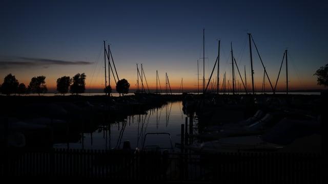 Abendstimmung am 20. Juni über dem Bodensee.