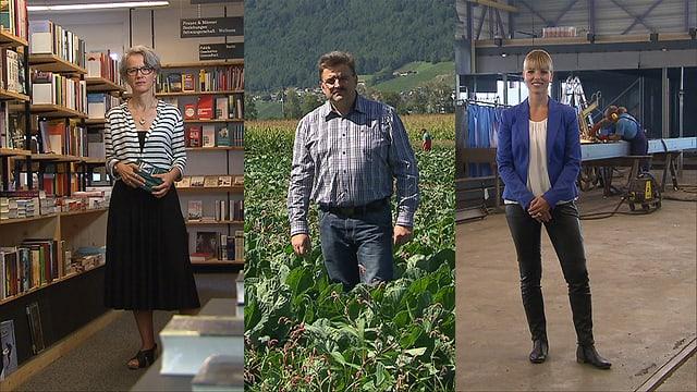 Marianne Sax, Stefan Britschgi und Diana Gutjahr