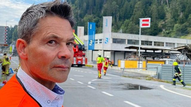 Incendi en zona d'industria a Schluein