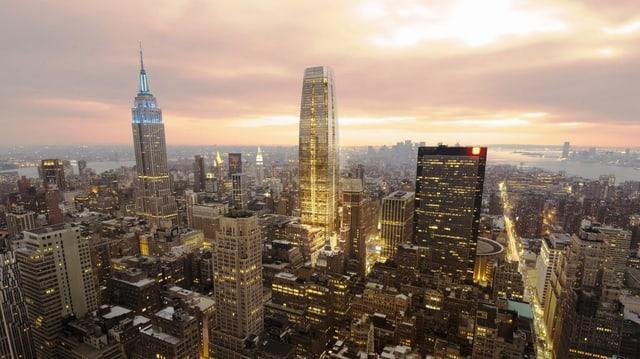 Ina vista aeriana da Manhattan.