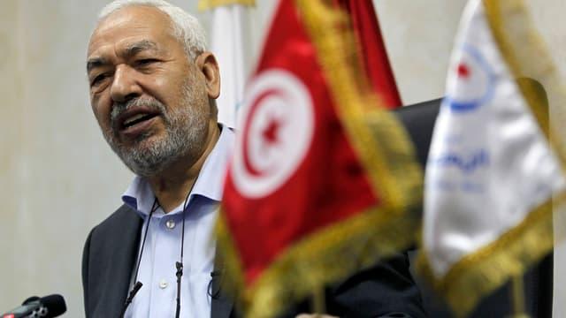 Ghannouchi während eines Interviews.