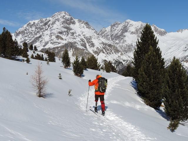 Reto Keller auf einer Skitour