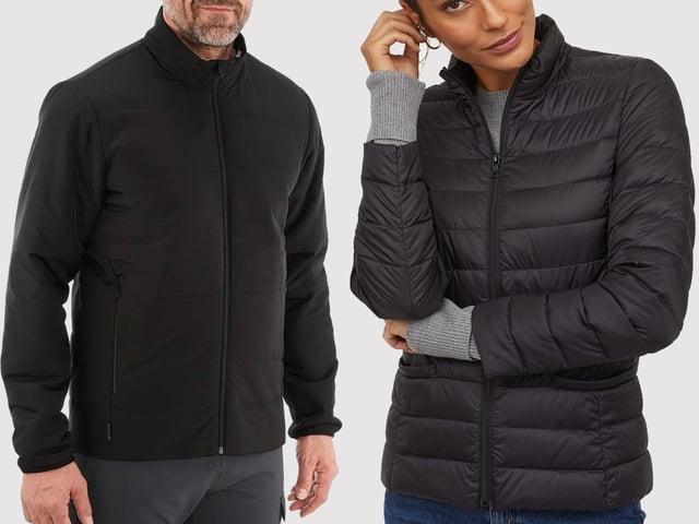 Zwei schwarze Jacken