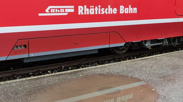 In tren da la RhB.