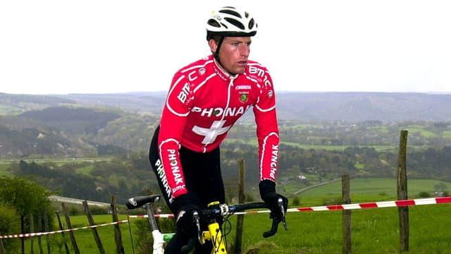 Martin Elmiger beim Radfahren