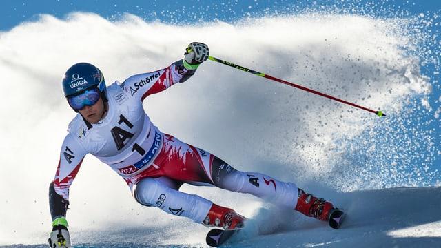 Benni Raich al slalom gigant sin il glatscher da Sölden.