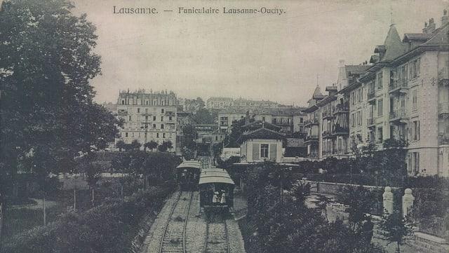 Die erste Drahtseilbahn der Scheiz in Lausanne