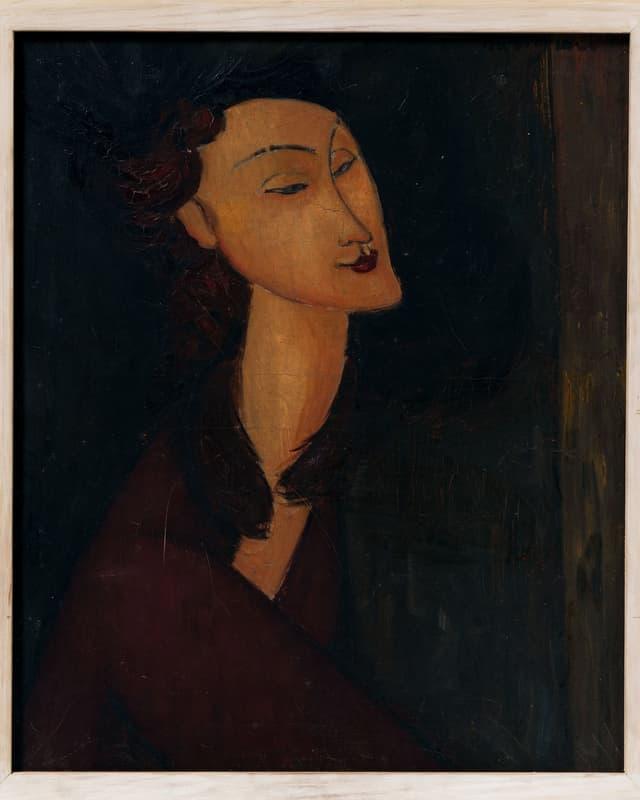 Gemaltes Porträt einer Frau