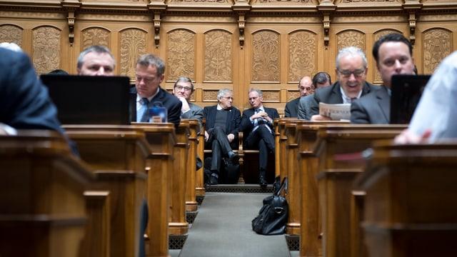 parlamentaris dal Cussegl naziunal durant ina sessiun