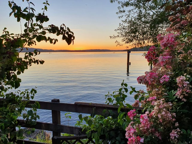 Abendrot an einem See