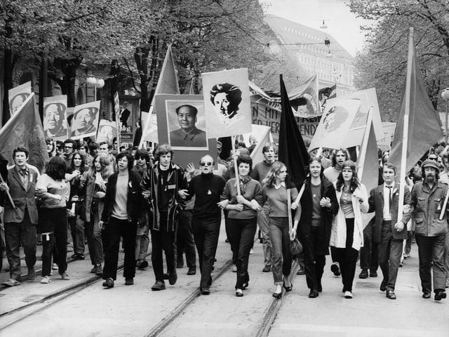 1. Mai-Demo in Zürich 1969