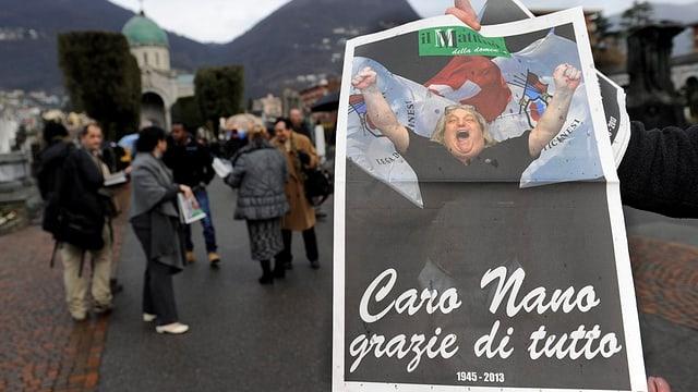 Die Mattino-Zeitung mit einer Sonderausgabe zum Tod von Giuliano Bignasca.
