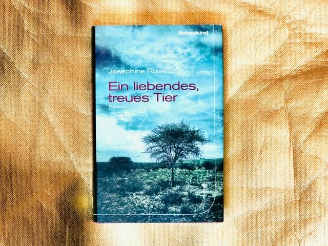 Der Roman «Ein liebendes, treues Tier» von Josephine Rowe vor goldigem Hintergrund