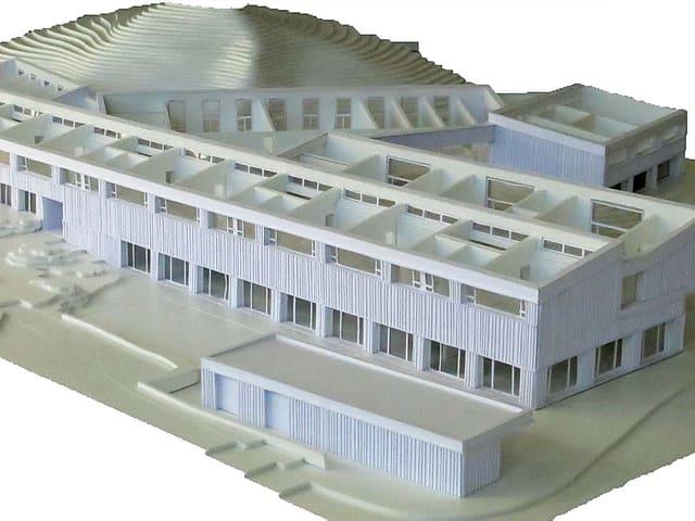 Modell des geplanten heilpädagogischen Zentrums Innerschwyz.