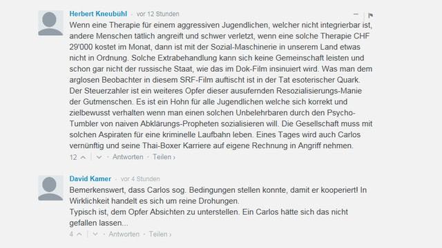 Leserkommentare auf nzz.ch