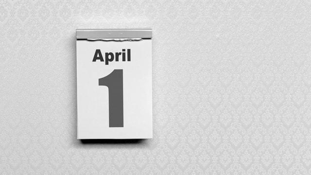 Kalender am 1. April.