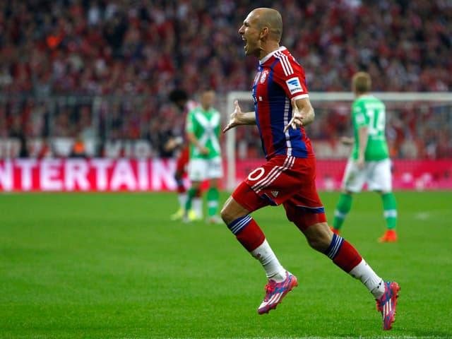 Arjen Robben jubelt nach einem Treffer