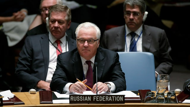 Witali Tschurkin bei den Vereinten Nationen.
