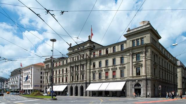 Häuserzeile in Luzern.
