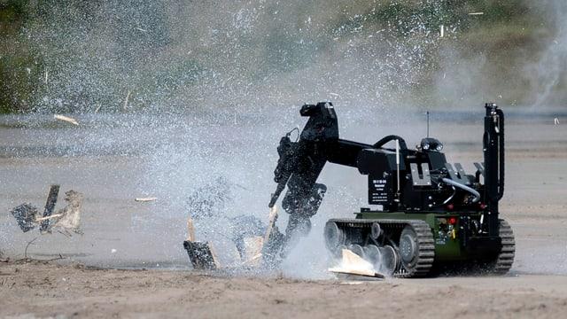 In roboter da dismetter bumbas (archiv, test da la Bundeswehr en Germania, 2012).
