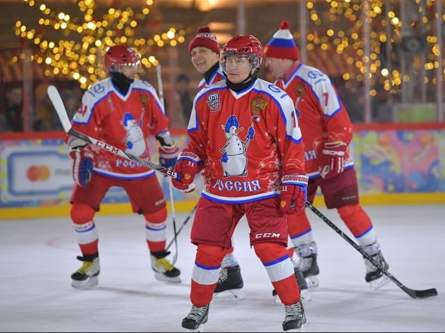 Waldimir Putin auf dem Eis.
