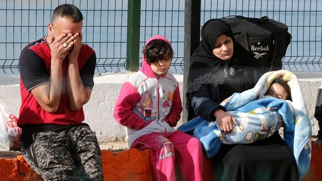 Ein Flüchtlingsfamilie in der Türkei