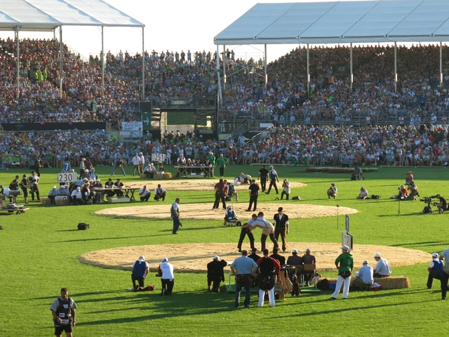 Das Stadion von innen.