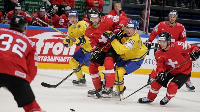 gieu da hockey tranter Svizra e Svezia