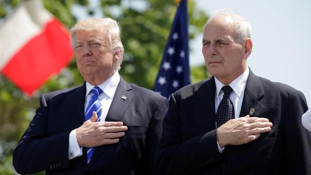 Trump und Kelly am 28. Juli in Washington.