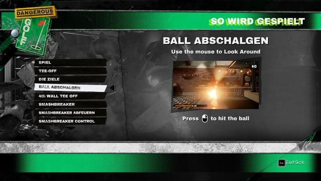 Ball abschalgen, bitte