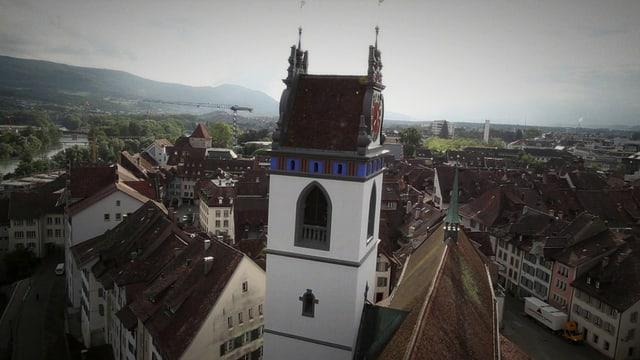 Drohnenaufnahme der Aarauer Altstadt