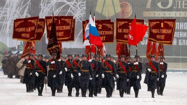 Soldaten an Parade.
