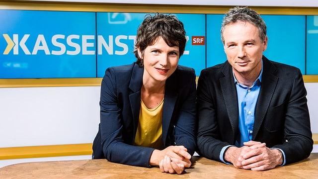 Kathrin Winzenried und Ueli Schmetzer, Moderatoren «Kassensturz»
