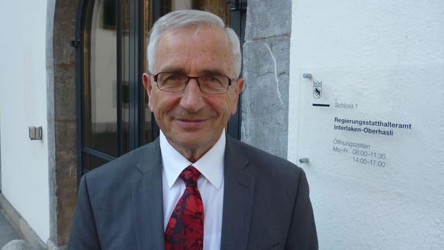 Porträt vom abtretenden Regierungsstatthalter Walter Dietrich.